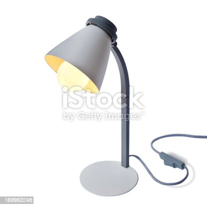 Reading lamp isolated on white.