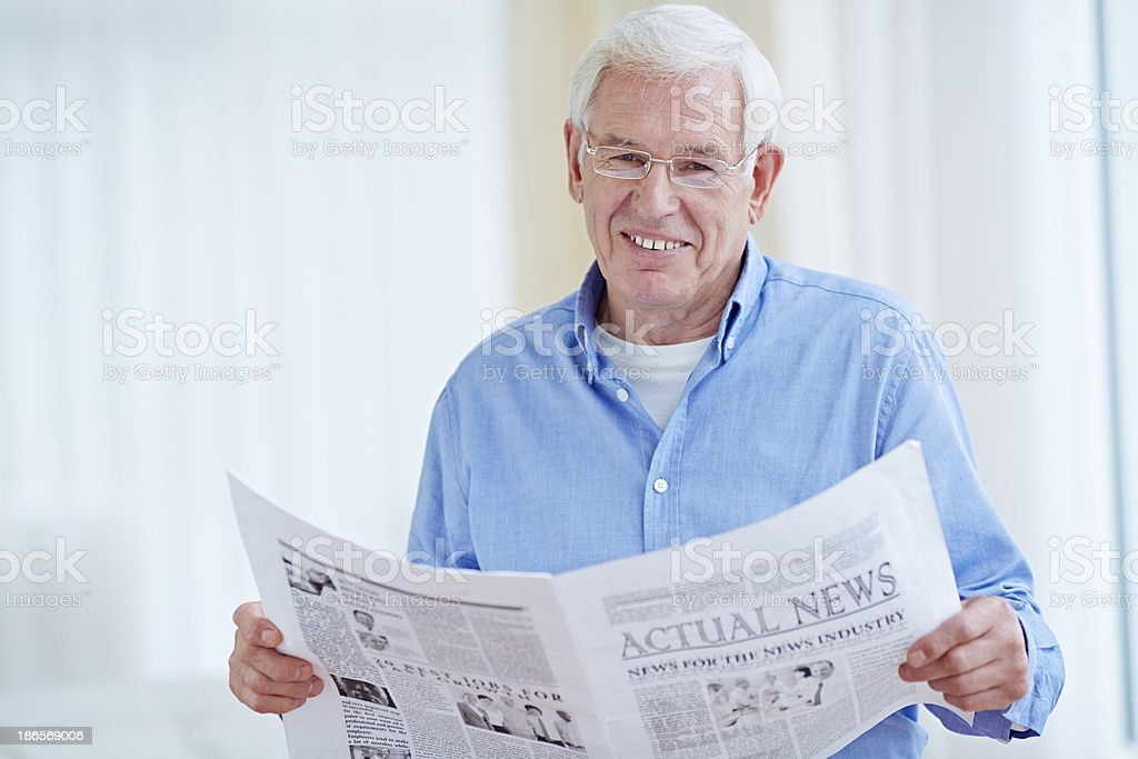Reading last news royalty-free stock photo
