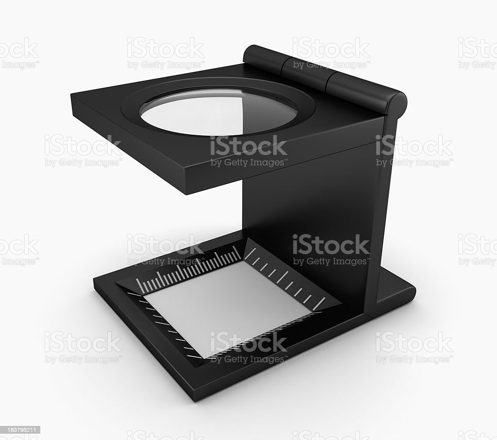Reading magnifier stock photo