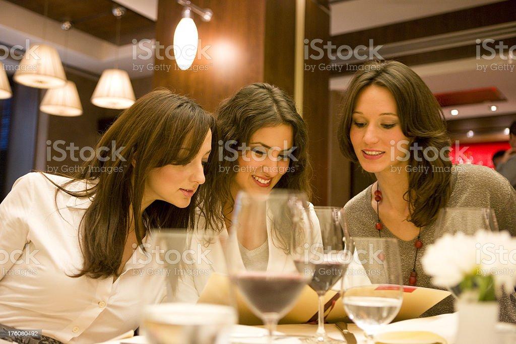 Reading menu royalty-free stock photo