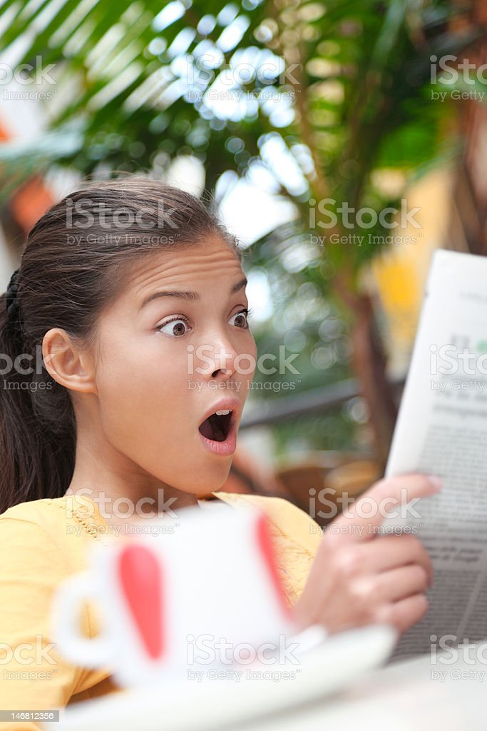 Reading news newspapers royalty-free stock photo