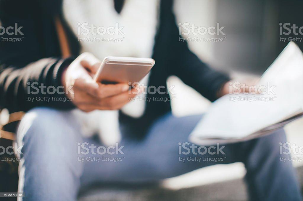 Lesen Nachrichten  – Foto