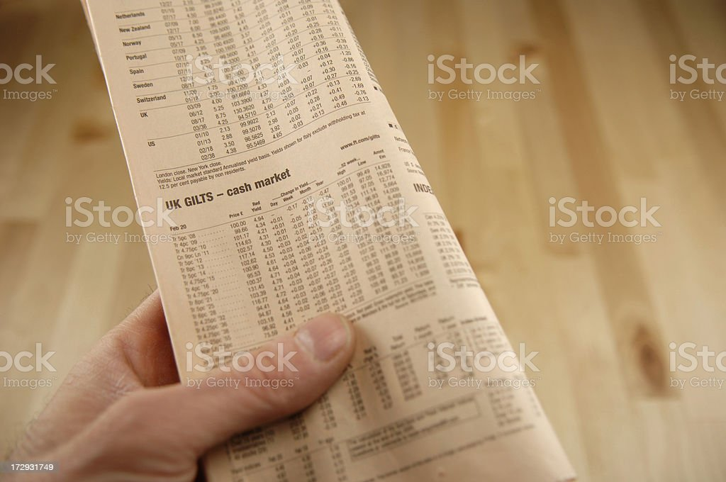 reading newspaper series royalty-free stock photo