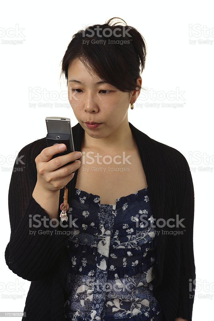 Reading Phone Message royalty-free stock photo