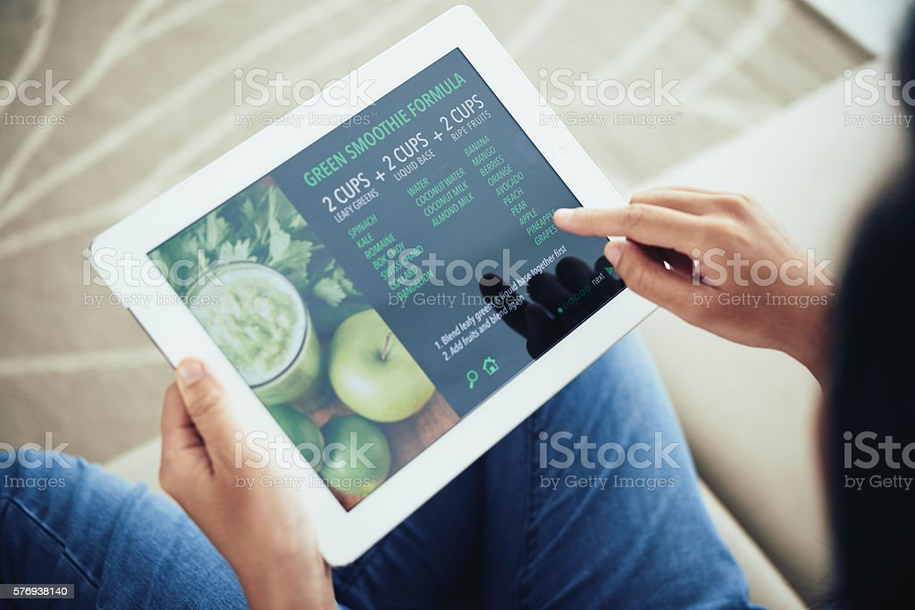 Reading recipe stock photo
