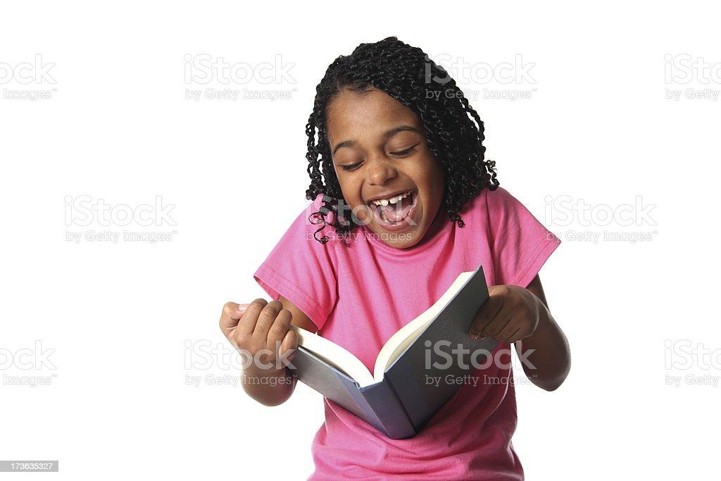 Reading Something Funny stock photo