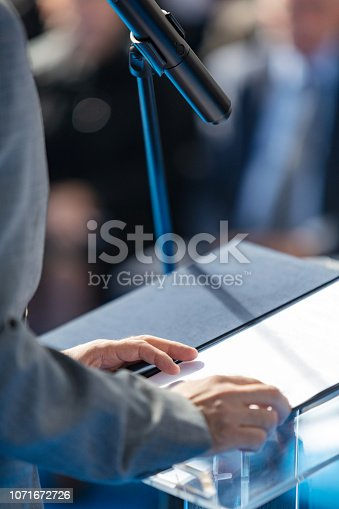 854811490 istock photo Reading speech 1071672726
