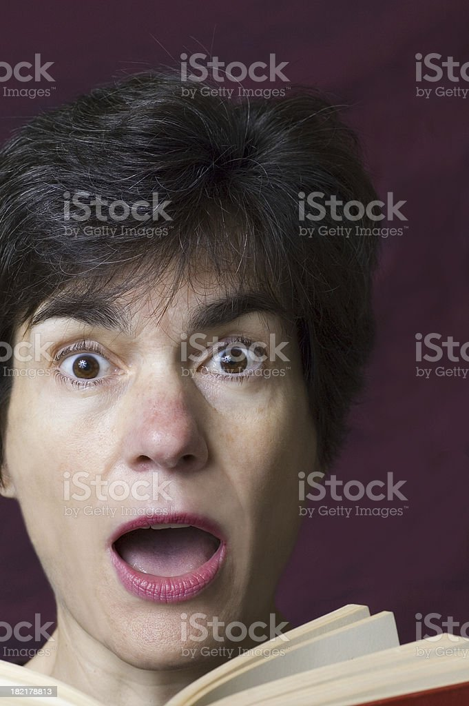 Reading surprise - 2 stock photo