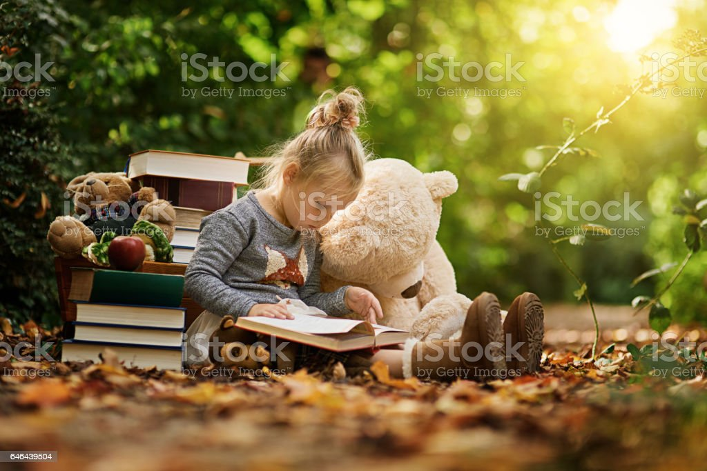 Reading takes us somewhere else stock photo