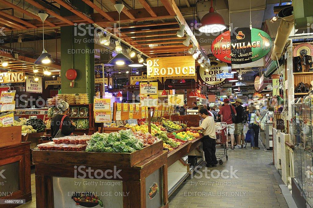 Reading Terminal Market in Philadelphia stock photo