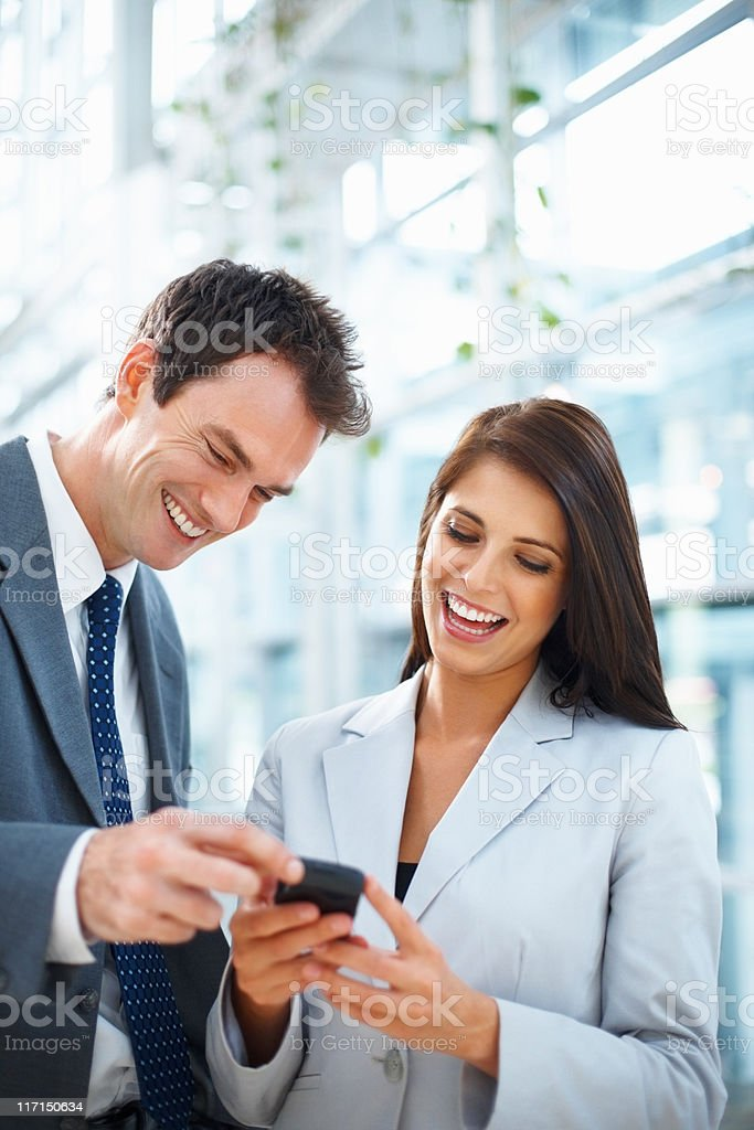 Reading text message royalty-free stock photo