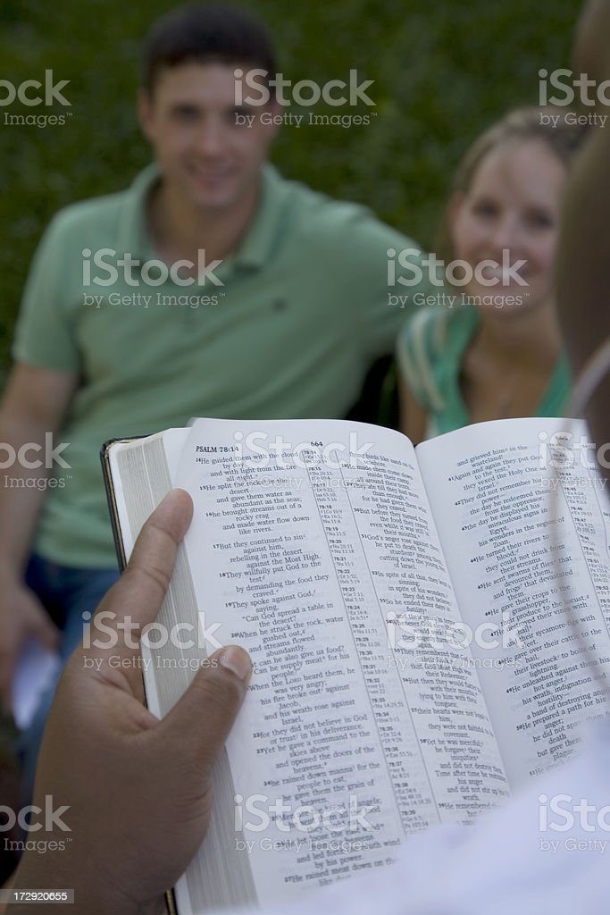 Reading the Bible royalty-free stock photo