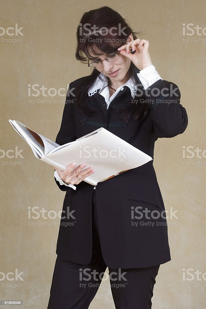 reading the book royalty-free stock photo