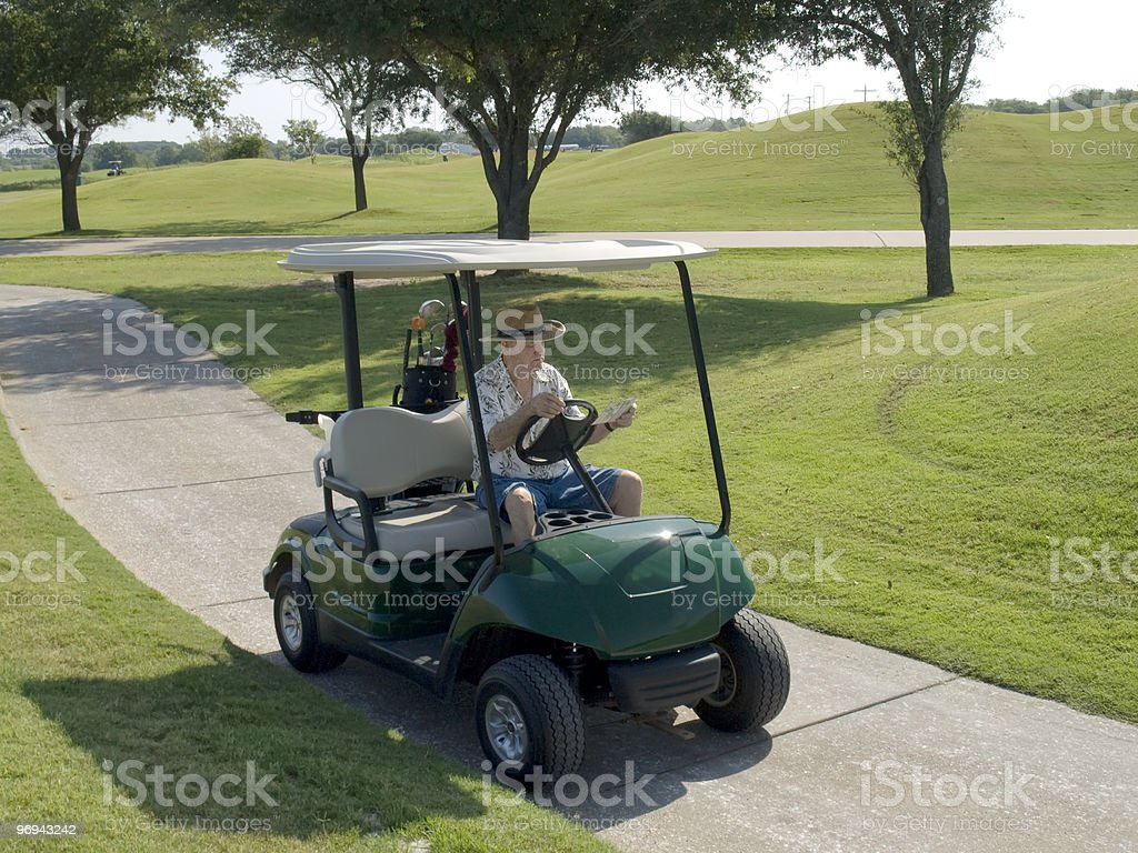 Reading the Golf Course Map royalty-free stock photo