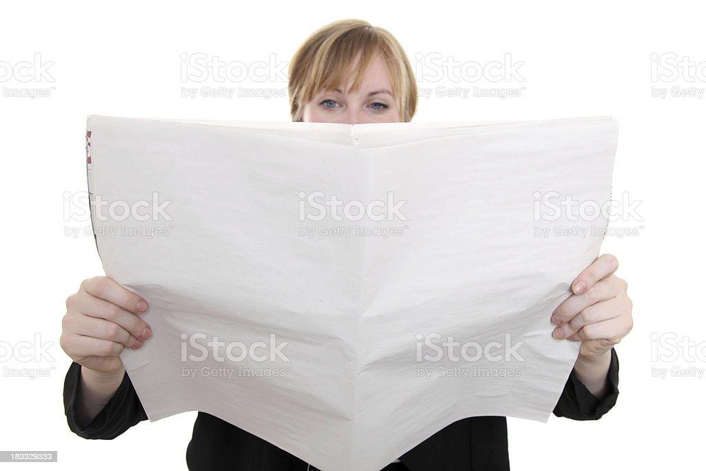 Reading the news royalty-free stock photo