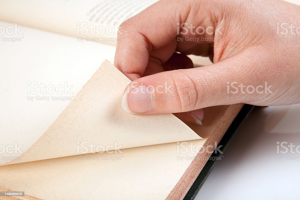 Reading the next page royalty-free stock photo