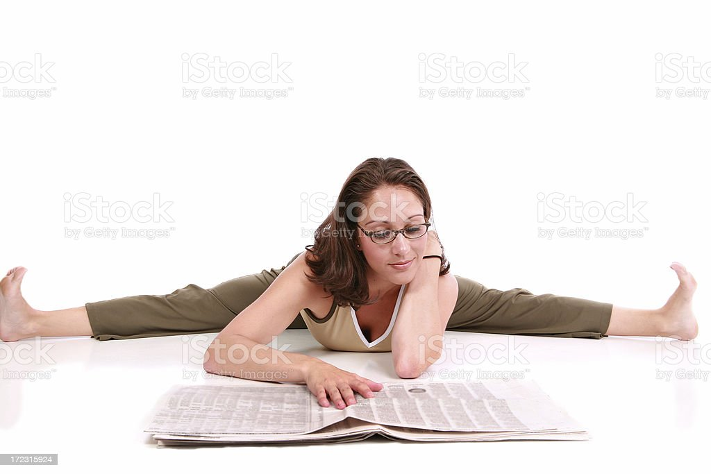 Reading the Paper royalty-free stock photo