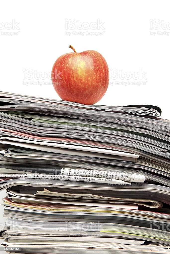 Reading the papers royalty-free stock photo