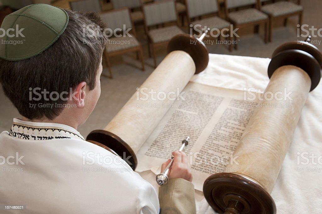 Lesen der Torah - Lizenzfrei Bar Mizwa Stock-Foto