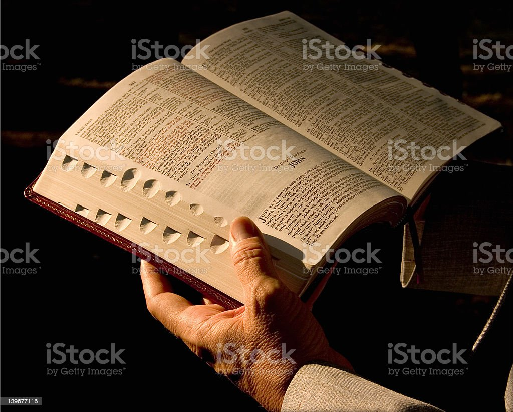 Reading the Word stock photo