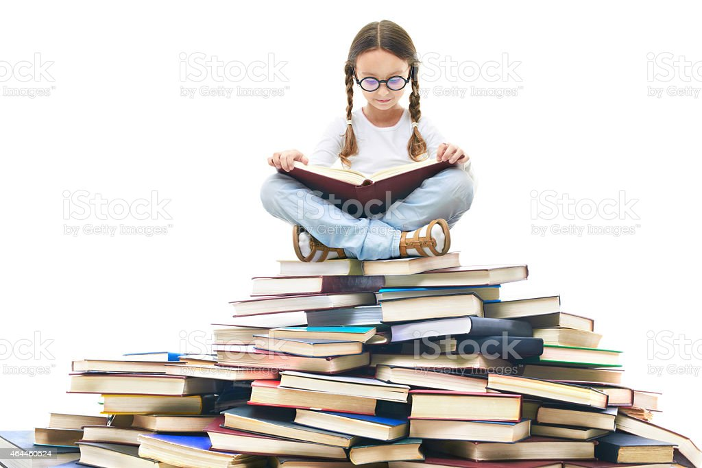 Reading time stock photo