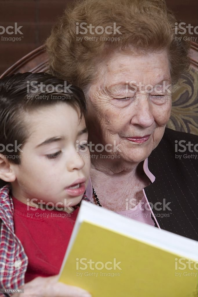 reading to me royalty-free stock photo