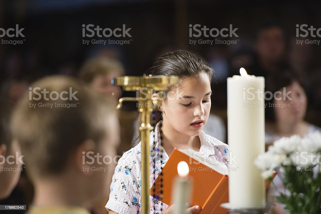 reads the prayer stock photo