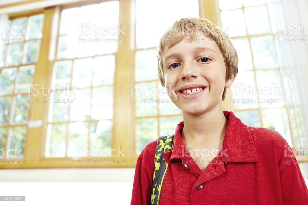 Ready and excited for school! royalty-free stock photo