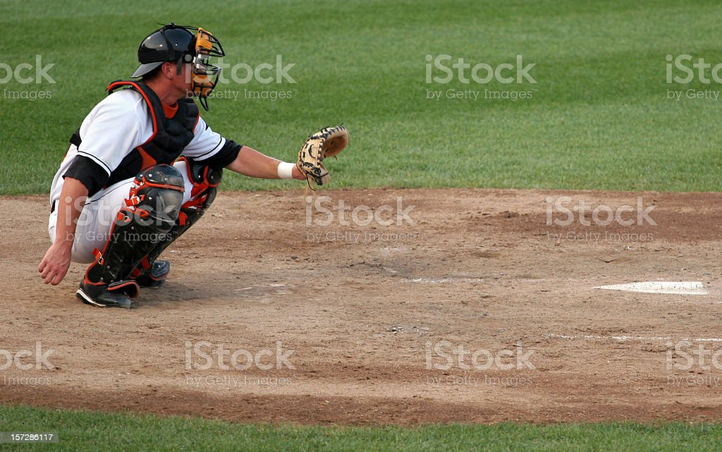ready catcher stock photo