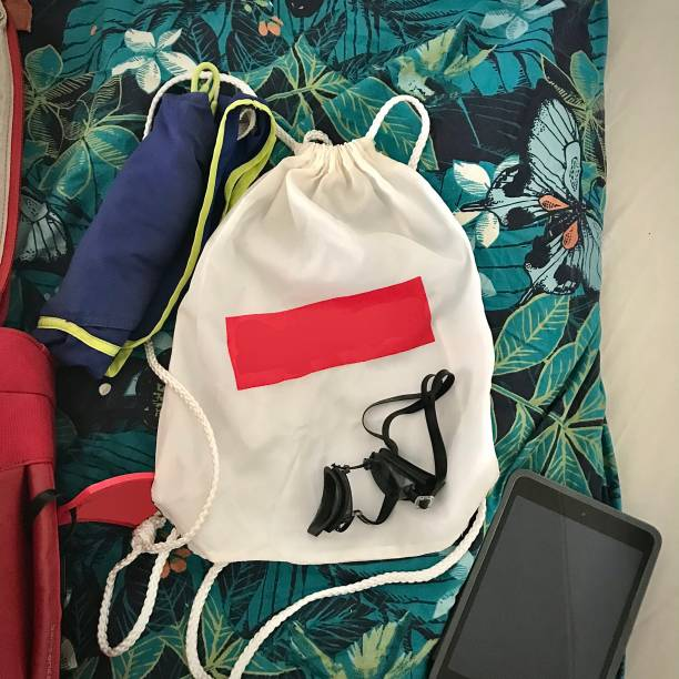 Ready for a day at the beach. stock photo