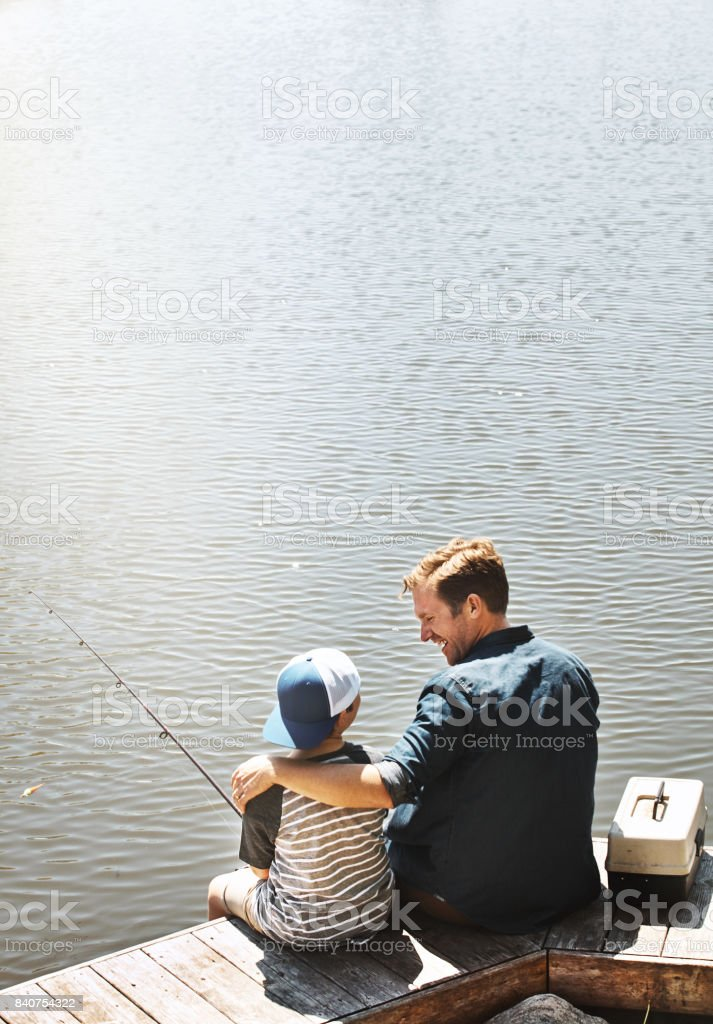 Ready for a fishing mission? stock photo