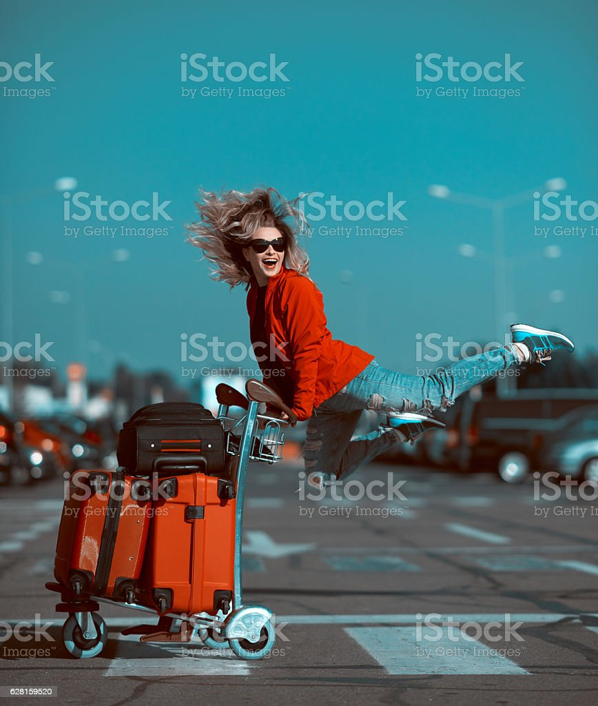 ready for a great vacation stock photo