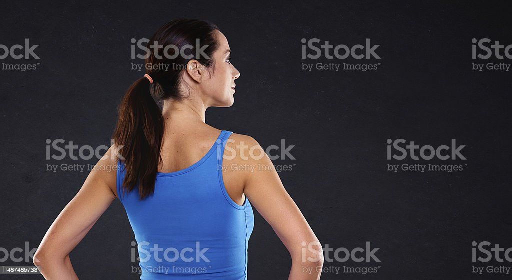 Ready for a gym challenge royalty-free stock photo