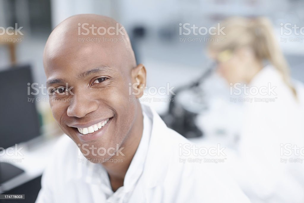Ready for a long day in the lab royalty-free stock photo
