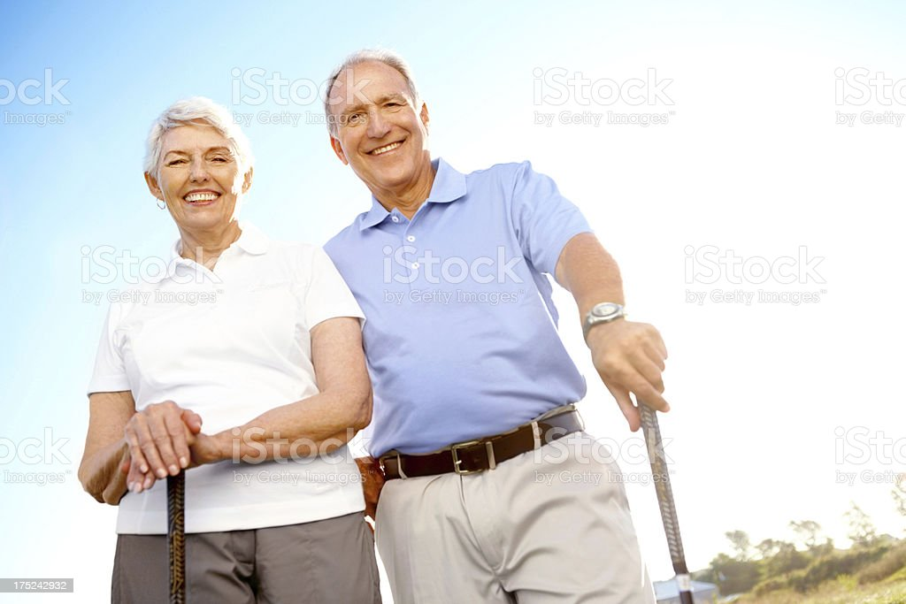 Ready for a round of golf together royalty-free stock photo