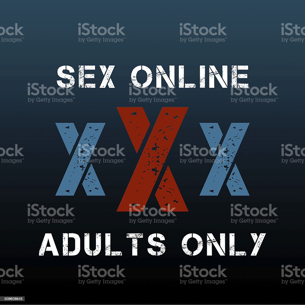 XXX ready for adult content material stock photo