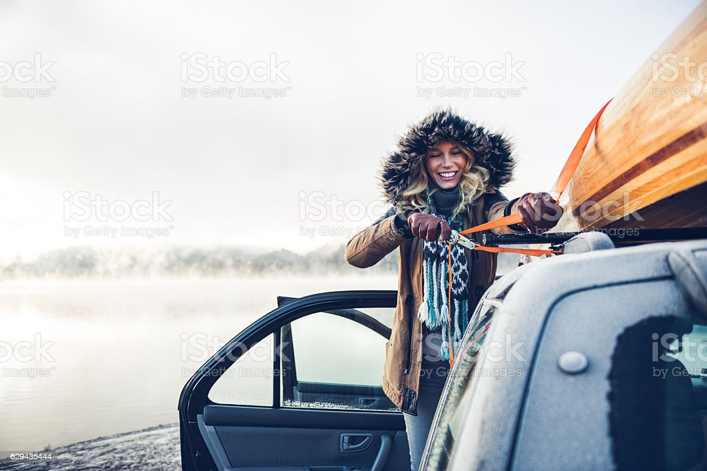 Ready for an adventure stock photo