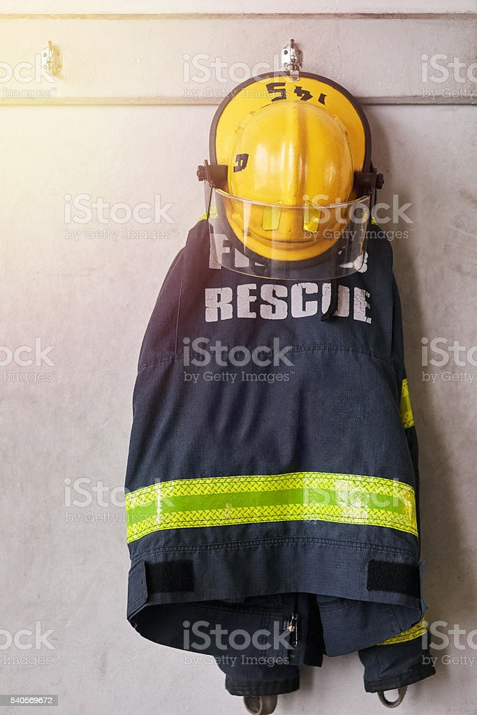 Ready for an emergency stock photo