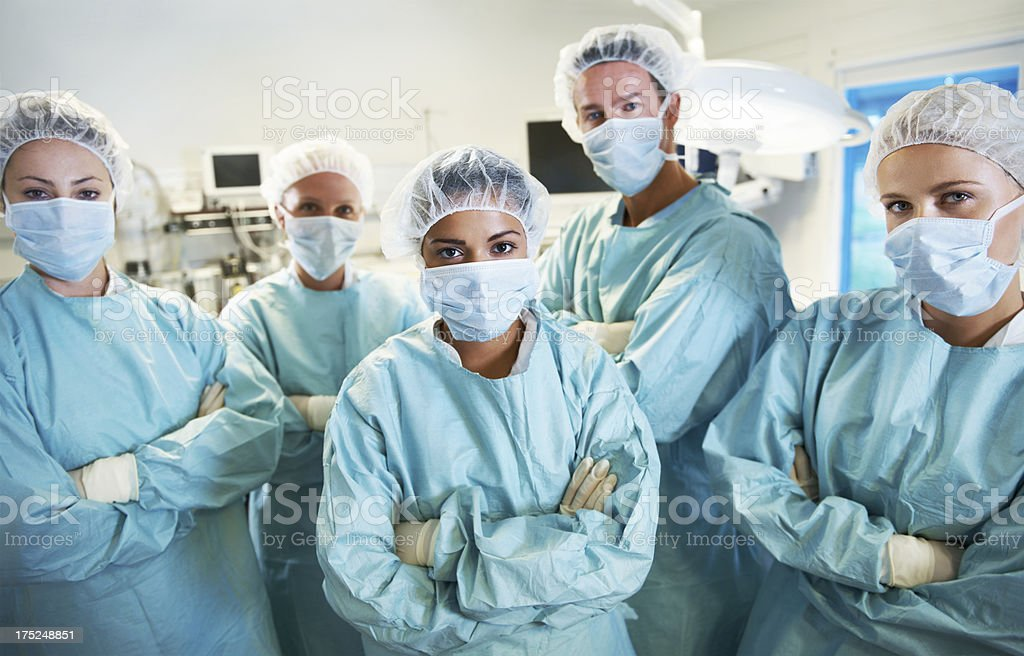 Ready for any unseen complication royalty-free stock photo