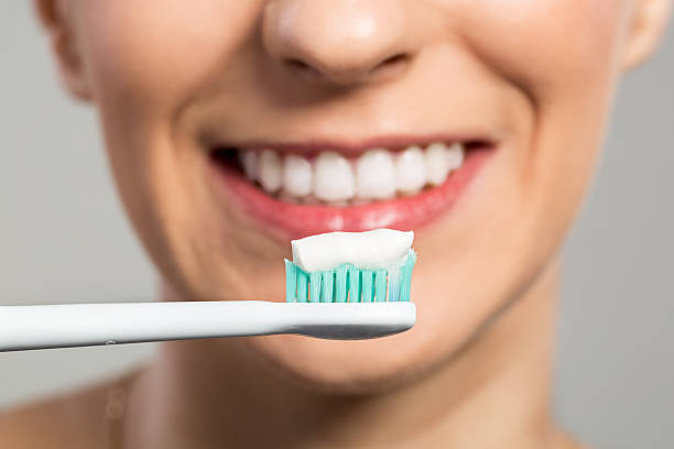 Ready for clening teeth stock photo