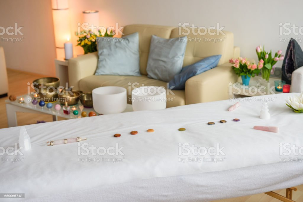 Ready For Crystal therapy stock photo