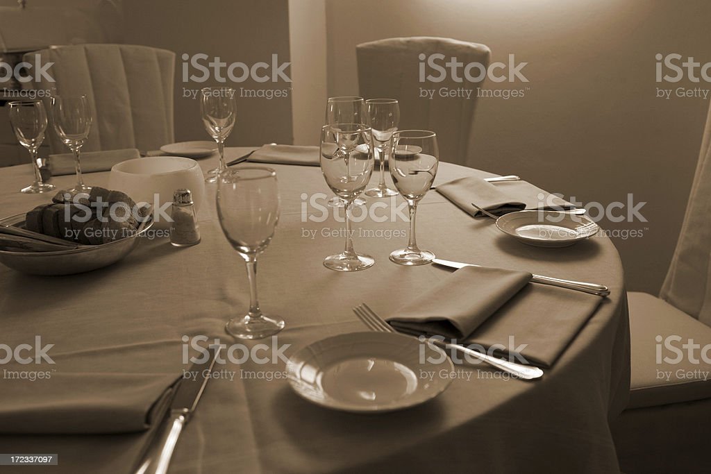 ready for dining royalty-free stock photo