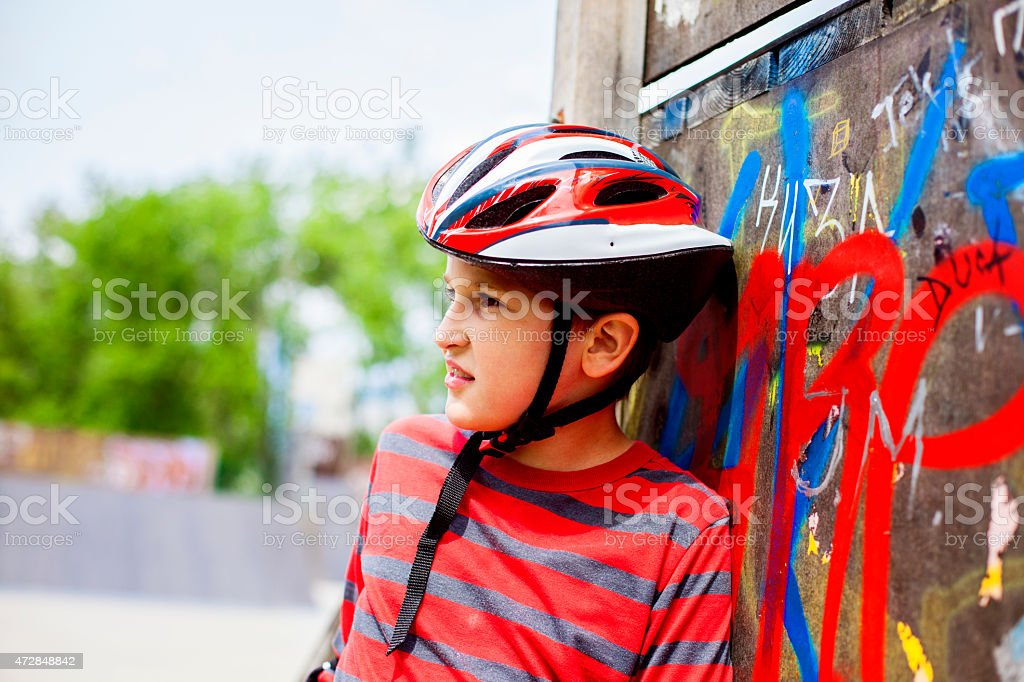 Ready for extreme sports fun stock photo