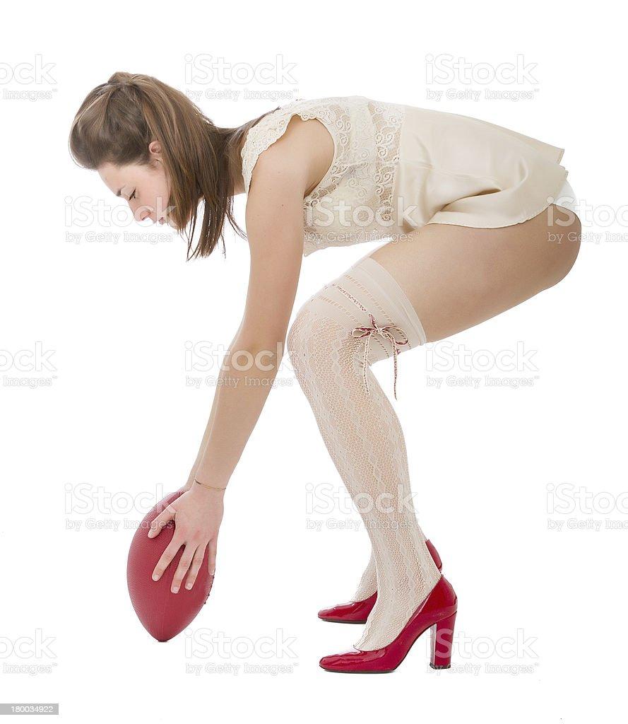 ready for kicking oval ball royalty-free stock photo