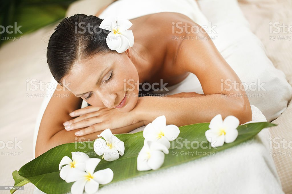 Ready for massage stock photo