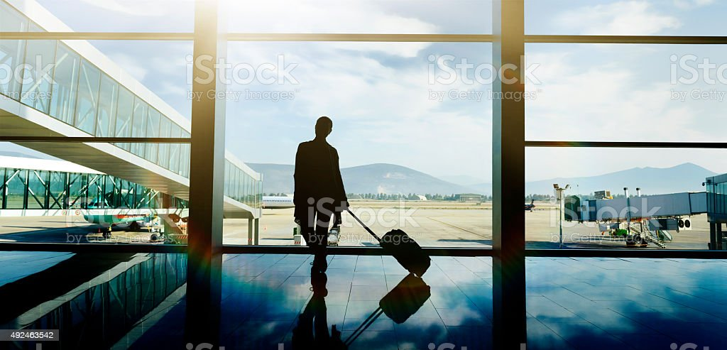 ready for my flight stock photo