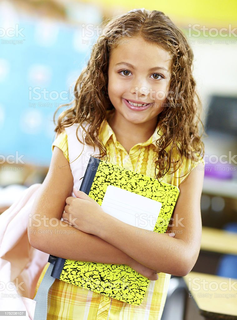 Ready for my next class! royalty-free stock photo