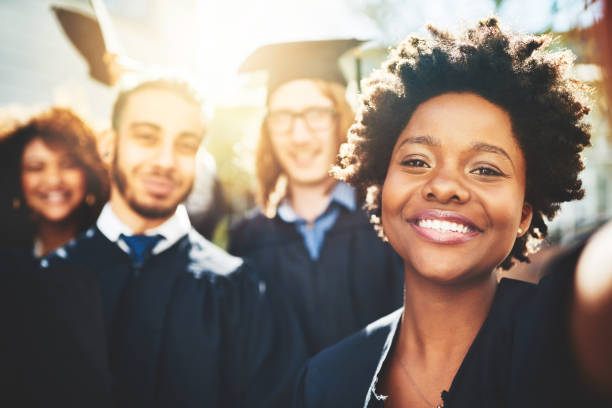 ready for new beginnings - university students stock photos and pictures