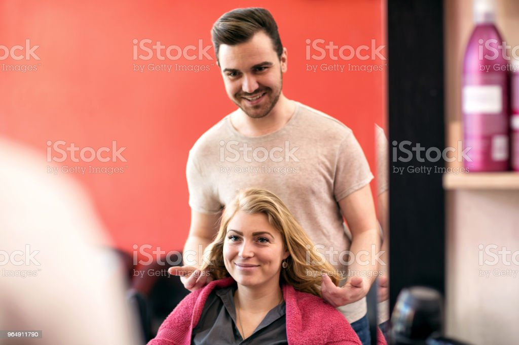 Ready for new hair cut royalty-free stock photo