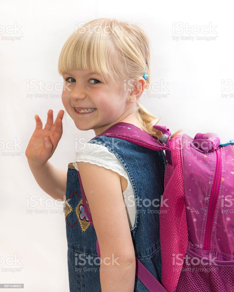 Ready for school. stock photo